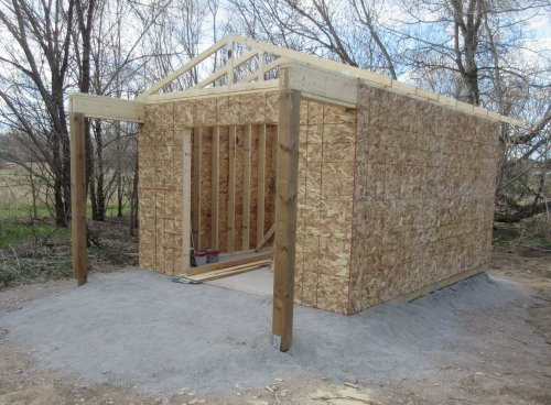 outdoor shed construction
