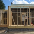 "7) Conventional 2"" x 6"" framing; however, aligning new framing to a well settled home is"
