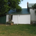 1) Tore down a dilapidated lean-to shed in preparation for excavation